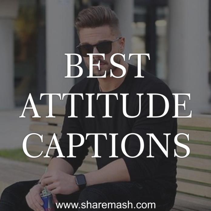 best attitude captions for instagram