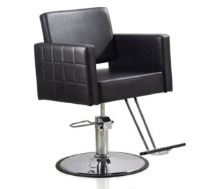 FlagBeauty Black Hydraulic Barber Styling Chair